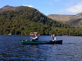 Canoeing on Ullswater with Reach Beyond Adventure
