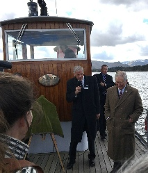Prince Charles aboard the Ullswater Steamers March 2018. Photo © Rob Shephard